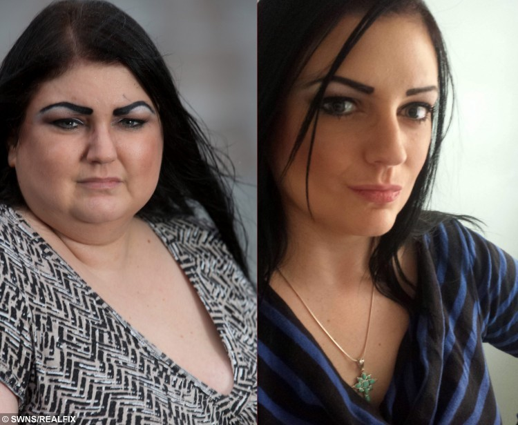 "Laura Pell, 34, from Northampton, who has been struck by a mystery illness causing her to gain eight stone in six months. January  8, 2015 - Composite picture showing her before and after she added the weight.  A pretty make-up artist told yesterday (Thurs) how she had become a ""human waterbed"" after a mystery illness caused her to balloon to almost twice her size - in just six months.  See NTI story NTISWELL.  Petite Laura Pell, 34, weighed nine stone (57kg) last summer and kept herself in shape by going to gym three times a week and eating a sensible diet.  But after being struck down with a mystery illness which has baffled doctors, she began to retain fluid which caused her body to swell in size.  She piled on more than a stone in weight in just 24 hours and now tips the scales at 17 stone - and is putting on an average of one-a-half-stone every month.  Laura, who lives with boyfriend Mark Appleby, 30, in Kingsthorpe, Northants., has also been forced to splash out on a completely new set of clothes after going from a trim size 10 to a bulky size 22 since last July.  The once striking brunette has also been forced to give up her job as a wedding make-up artist because she struggles to walk and fears she will end up in a wheelchair if a cure is not found."