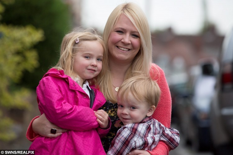 Emma Conway with her daughter Erin, 4, and son Ethan, 2. Emma is a blogger who created a post with pictures of her children having tantrums.  May 14 2015.  A mum fed-up with sickeningly sweet parent blogs has become an internet phenomenon after launching a website featuring hilarious snaps of children – at their WORST.  See NTI story NTIKIDS.  Emma Conway, 37, started posting pictures of her four-year-old daughter Erin and two-year-old son Ethan having tantrums, making terrible models and messing up the family home.  The down-to-earth mum, from Birmingham, also wrote brutally honest posts about the realities of bringing up children and the chaos of running a family home.  Incredibly, just months after starting her blog, thousands of other parents were inspired to send her pictures of their own little terrors.  Her blog, called brummymummyof2 has become so successful she even has her own YouTube channel and is followed by more than 12,000 people across the world.