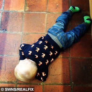 Collect photo of Emma Conways' son Ethan during a tantrum. Emma is a blogger who created a post with pictures of her children having tantrums.  May 14 2015.  A mum fed-up with sickeningly sweet parent blogs has become an internet phenomenon after launching a website featuring hilarious snaps of children – at their WORST.  See NTI story NTIKIDS.  Emma Conway, 37, started posting pictures of her four-year-old daughter Erin and two-year-old son Ethan having tantrums, making terrible models and messing up the family home.  The down-to-earth mum, from Birmingham, also wrote brutally honest posts about the realities of bringing up children and the chaos of running a family home.  Incredibly, just months after starting her blog, thousands of other parents were inspired to send her pictures of their own little terrors.  Her blog, called brummymummyof2 has become so successful she even has her own YouTube channel and is followed by more than 12,000 people across the world.