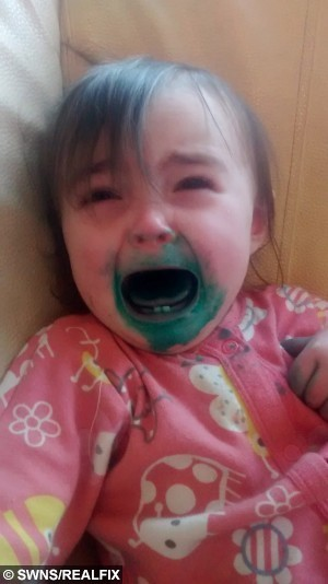 Collect photo of Elsie Wilkinson, the daughter of one of Emma Conways' fellow bloggers, Becky Wilkinson, during a tantrum. Emma is a blogger who created a post with pictures of her children having tantrums.  May 14 2015.  A mum fed-up with sickeningly sweet parent blogs has become an internet phenomenon after launching a website featuring hilarious snaps of children – at their WORST.  See NTI story NTIKIDS.  Emma Conway, 37, started posting pictures of her four-year-old daughter Erin and two-year-old son Ethan having tantrums, making terrible models and messing up the family home.  The down-to-earth mum, from Birmingham, also wrote brutally honest posts about the realities of bringing up children and the chaos of running a family home.  Incredibly, just months after starting her blog, thousands of other parents were inspired to send her pictures of their own little terrors.  Her blog, called brummymummyof2 has become so successful she even has her own YouTube channel and is followed by more than 12,000 people across the world.