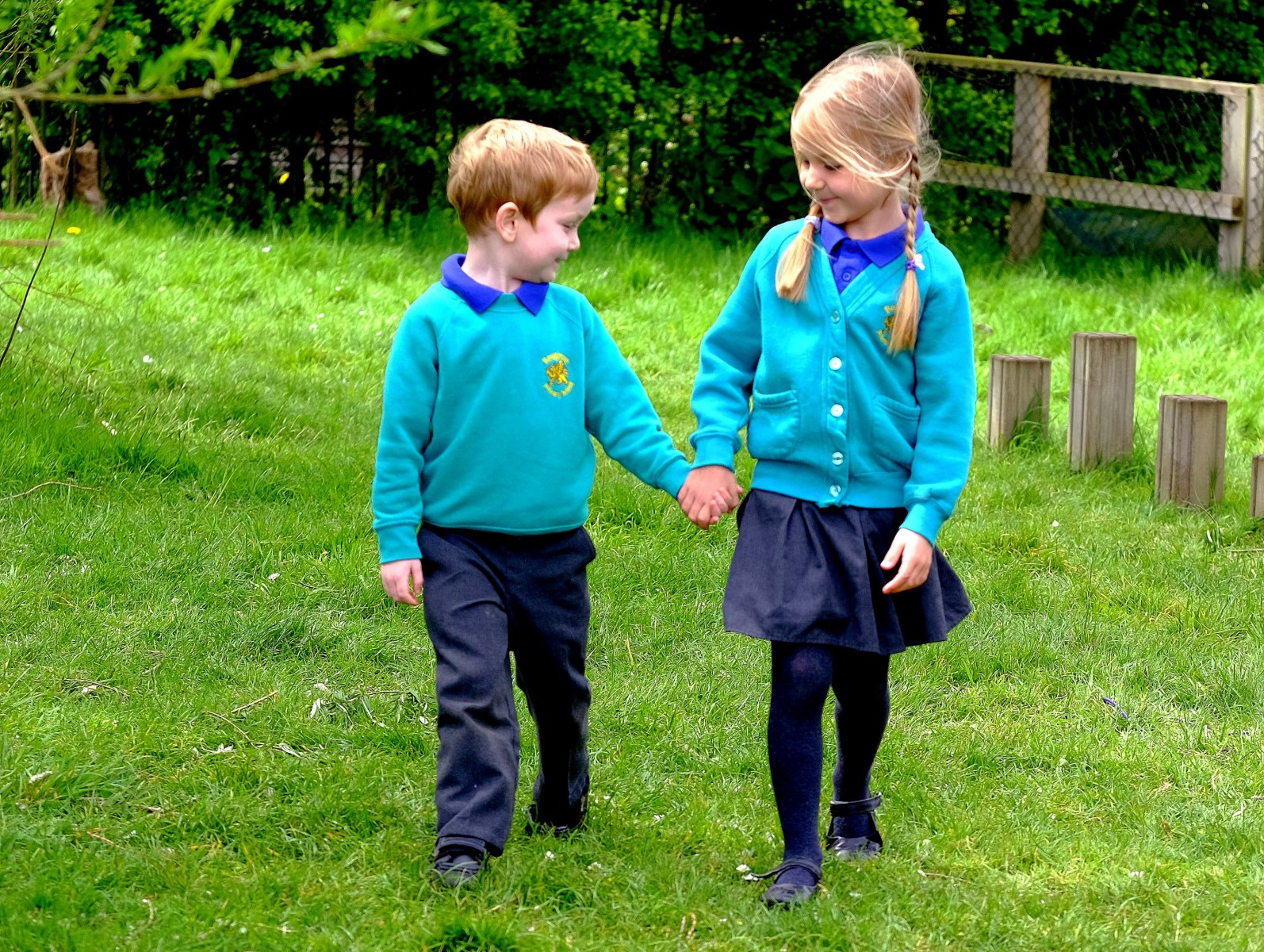 The five year old hero who saved the life of her best pal when he starting choking on his school dinner