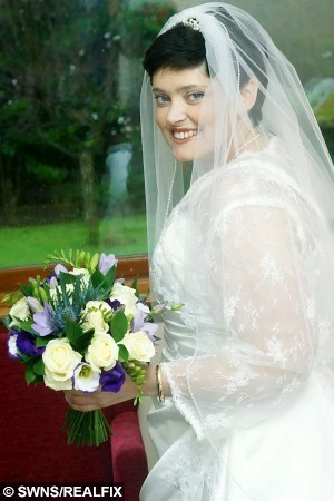Maggie Brownlie.  A heartbroken widower yesterday (Tues) paid tribute to his beloved wife who he married in a secret hospital ceremony before tragically losing her to cancer.  See CENTREPRESS story CPWEDDING.  Scott, 38, and Maggie Brownlie, 35, tied the knot inside a hospital chapel when doctors feared Maggie was losing her three-year fight with breast cancer at the end of December.  The couple were initially scheduled in January, but decided to hold their wedding at Victoria Hospital in Kirkcaldy, Fife, when her condition worsened.  Scott and Maggie revealed their secret as they renewed their vows in front of friends and family who had gathered from all over the world on January 9.  But tragedy soon struck and the newlyweds, from Burntisland, Fife, were torn apart when Maggie lost her battle with cancer at the couple's home on March 7.