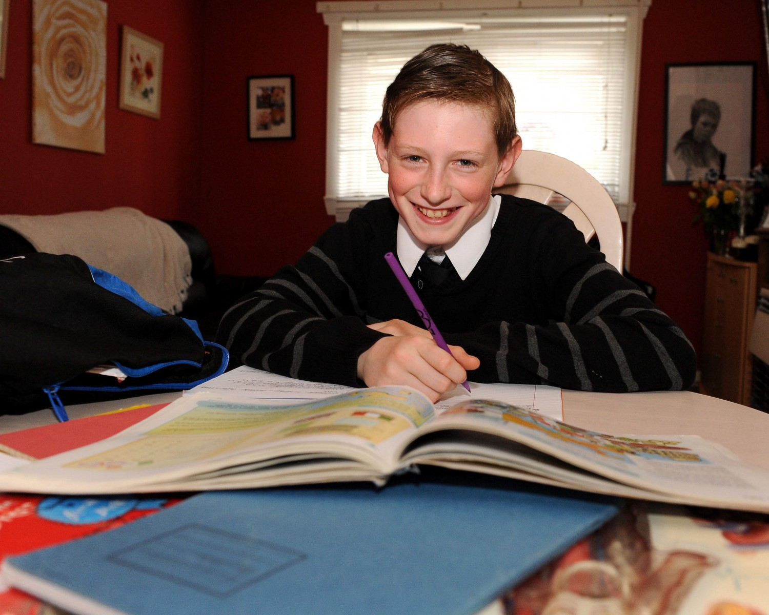 School boy returns to class after freak goalpost accident left him with a broken neck and jaw