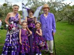 Willy Wonka Wedding! The bride ate chocolate for five months to create her dress