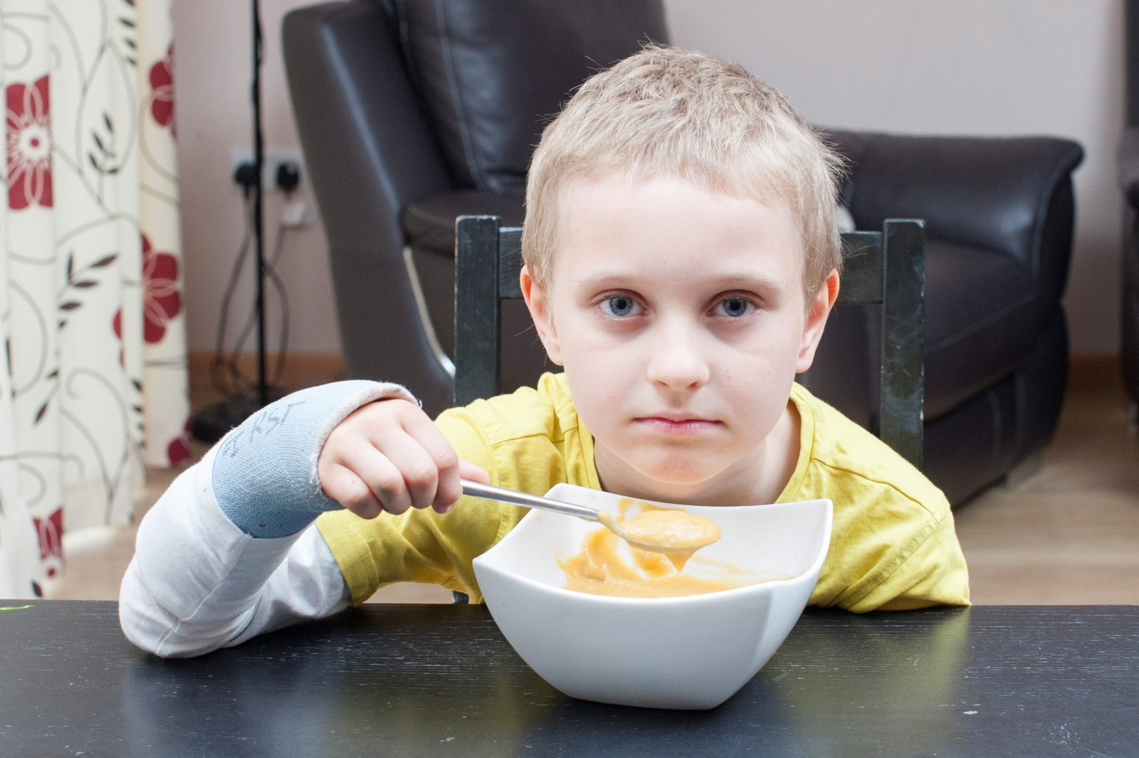 Find out what happened to this seven year old that left him terrified of food