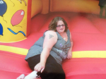 Mum-of-three loses half her bodyweight after fears she'd BURST bouncy castle