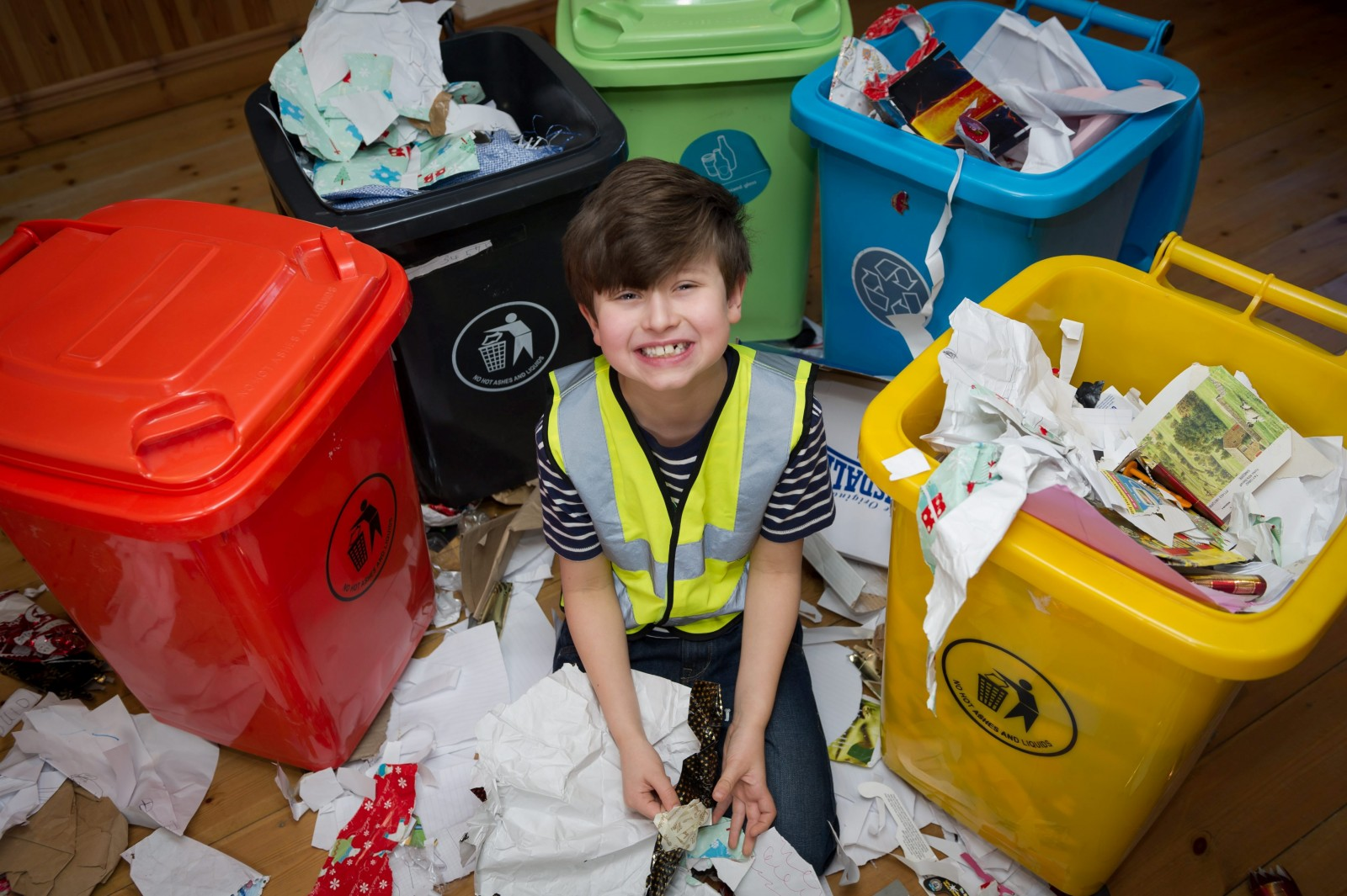 Autistic schoolboy's obsession with rubbish could bag him a TV show!