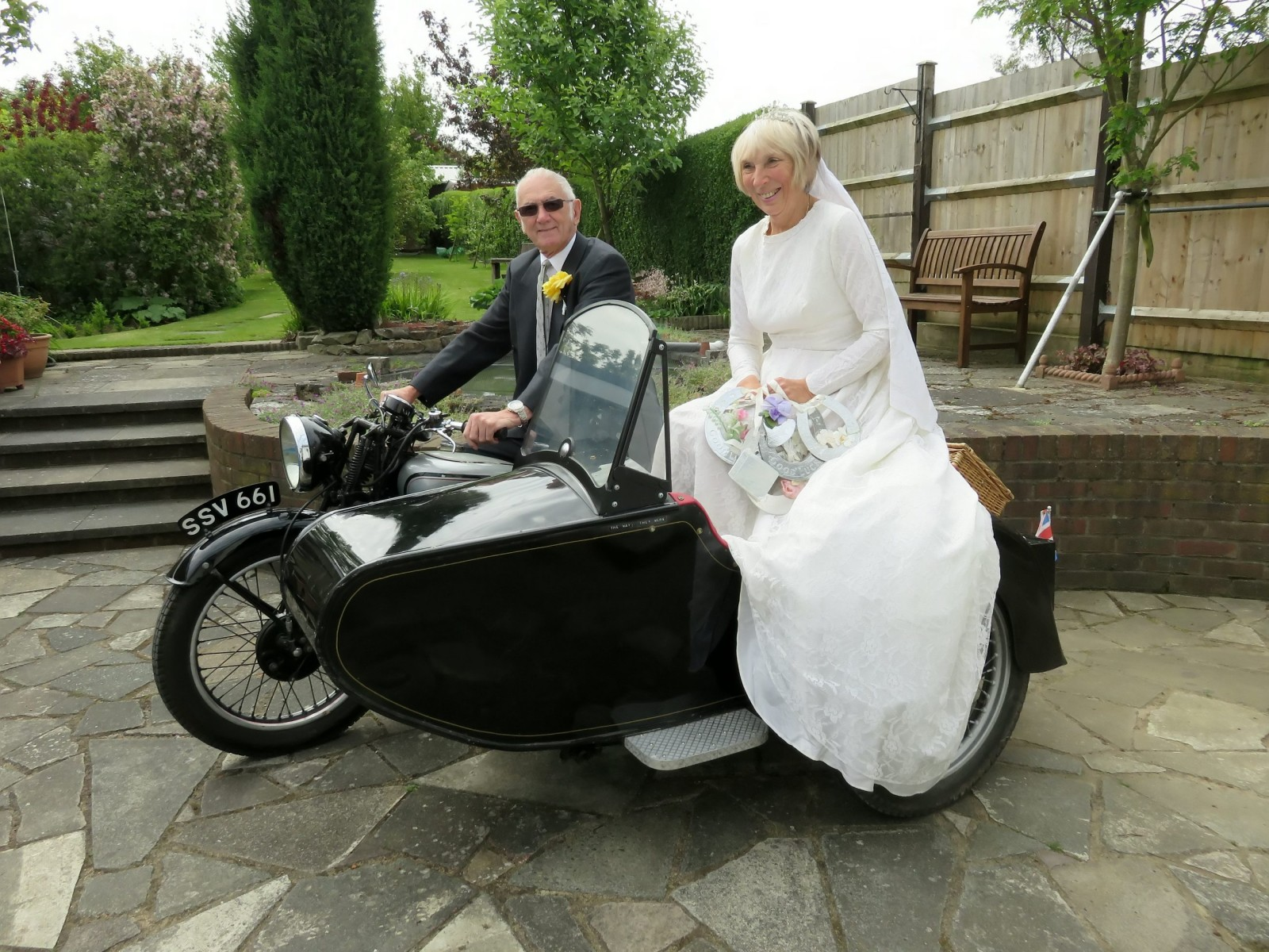 Gran celebrates 50 years of marriage by shedding SIX stone to fit into original wedding dress