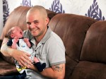 It's a hat-trick! Super-dad turns midwife for the THIRD TIME