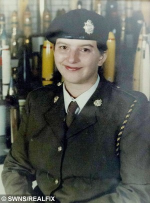 COLLECT PHOTO - Trudi after her discharge from the army in 1997.  A soldier claims she was left in a coma for six months when she was 18-years-old after taking the contraceptive pill.  Trudi Banning from Leamington Spa collapsed at an army base in Oxfordshire. She was rushed to hospital, and fighting to keep her alive, surgeons discovered that her intestine was infected with gangrene as they carried out an emergency operation.  After suffering two blood clots, 80 per cent of her intestine had been starved of oxygen and simply died inside her.  For six months Trudi was in a coma and her devastated father was told that she might never wake up.  It was only later she said doctors put down her near-fatal illness to the contraceptive pill, Femodene, that she had been taking since she began her army training in 1991.  Trudi claims that she was told to start taking the Pill by the Army while training at barracks in Guildford.  The Army has previously denied it had a policy of issuing contraception to female recruits.  Trudi took the Pill for the next four-and-a-half years. She had no apparent side-effects, except putting on weight.  But now she wants to warn women that taking the Pill can cause life-changing side-effects, or even death.