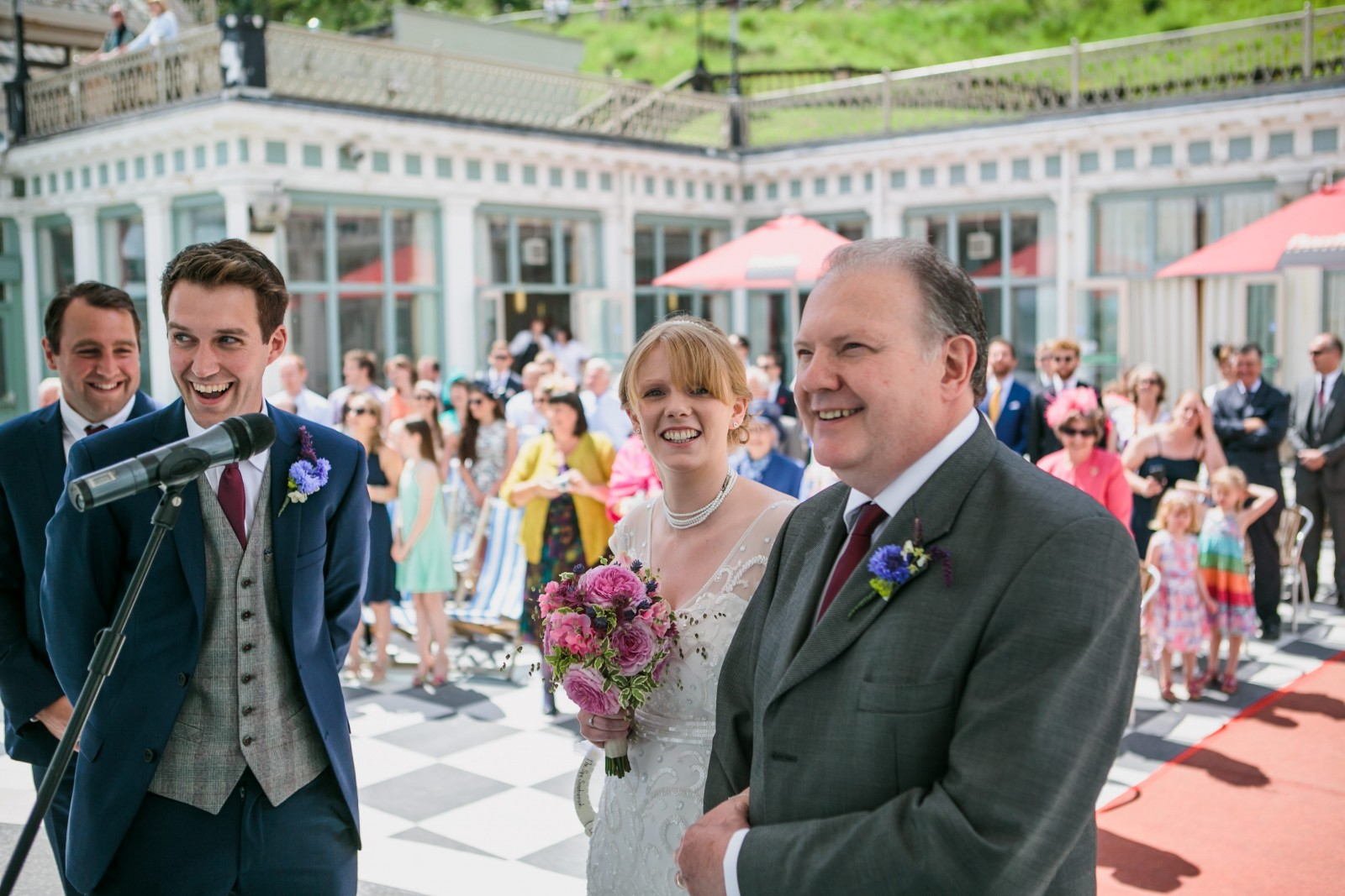 Seconds earlier this bride was seriously upstaged! Best photobomb ever?