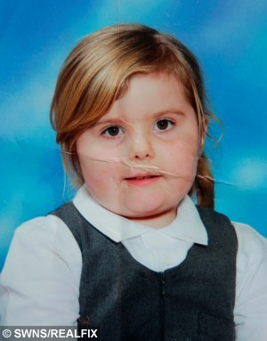 "Pictured - Holly-Ann, now 10,  in a school photo. See Ross Parry copy RPYFAT. A mother is demanding the Government pay for her ten-year-old to lose weight saying she won't stop eating but the girl blames her and asks: ''mum, why did you make me fat?"" Tubby Liz Thomson has emailed Jeremy Hunt saying the Department for Health should provide funds for a fat camp so Holly-Ann can shed the pounds. Liz says she has no control over Holly-Ann's emotional attachment to food - accusing her daughter of not knowing when to stop scoffing."