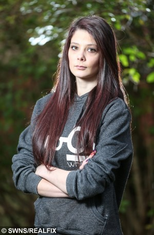 ***Ammended caption to picture filed earlier today*** Picture shows Jade Walsh from Rhyl in North Wales. See Ross Parry copy RPYVIDEOS : A man secretly filmed his 15-year-old step-daughter undressing, washing and going to the toilet, a court heard. Sick Martyn Darlington, 39, spied on Jade Walsh using cameras he set up in her bedroom and the bathroom of the family home he shared with her mother Caroline. He was today jailed for 14 months at Mold Crown Court after admitting he also built up a collection of indecent photographs and videos of children as young as six. Prosecutor Karl Scholz told the court Jade Walsh was the daughter of a woman that Darlington lived with and had been going out with for around eight years.  He said that at the age of 16, she left the family home but from the age of 11, they were living at the same house.  Andrew McCaren/Rossparry.co.uk