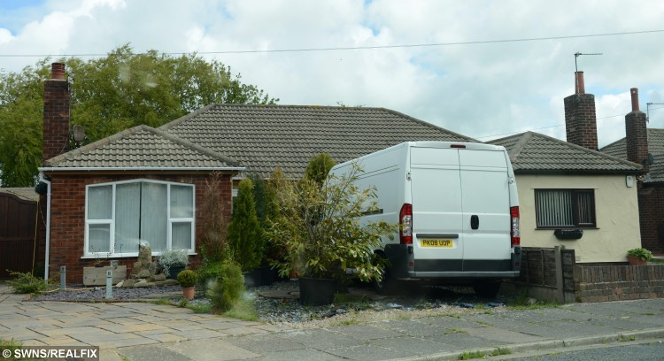 """Pictured - (Left) The House of Kirsty Robertson and (Right) the house of Mavis Ward. See Ross Parry Copy RPYHOUSE : A nightmare neighbour has been banned from contacting an elderly couple she harrassed for FOURTEEN years because she didn't like the colour of their bungalow.  Kirsty Robertson, 46, warned """"I won't stop until you're dead"""" as she made the lives of retired Mavis and Alan Ward a constant misery. A court heard they were forced to turn their 000 bungalow into a """"virtual fortress"""" and carry panic alarms in fear of what she might do next. Shocking CCTV footage showed Robertson climbing over their shared fence, pulling plant pots from their wall and throwing them on the floor. She then looked into the windows of Mr and Mrs Ward's bungalow in Thornton-Cleveleys, Lancs., shouting and pointing her finger."""
