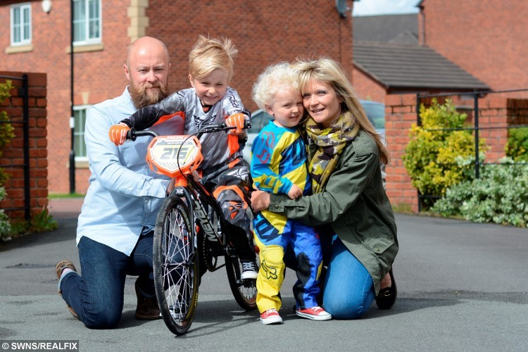 "Five-year-old Oscar Booth has loved bikes since he was two-years-old and he's now qualified to race for GB in the 2015 world BMX championships. See Ross Parry copy RPYBMX : Biking mad Oscar Booth is representing GB in the BMW World Championships - at the age of FIVE. The youngster started cycling at just two-years-old when he got onto a balance bike - one without pedals - where youngsters use their feet to propel themselves. And now Oscar is heading with his family to Heusden-Zolder in Belgium in July to compete with Team GB. He secured his place after racing in four rounds of the British BMX Series and qualified in the category for children aged six and under. Proud mum Vickie, from Standish, Wigan, Lancs., said: ""He understands what heÕs doing and knows heÕs racing for Team GB. HeÕs really excited. Five-year-old Oscar Booth has loved bikes since he was two-years-old and he's now qualified to race for GB in the 2015 world BMX championships. See Ross Parry copy RPYBMX : Biking mad Oscar Booth is representing GB in the BMW World Championships - at the age of FIVE. The youngster started cycling at just two-years-old when he got onto a balance bike - one without pedals - where youngsters use their feet to propel themselves. And now Oscar is heading with his family to Heusden-Zolder in Belgium in July to compete with Team GB. He secured his place after racing in four rounds of the British BMX Series and qualified in the category for children aged six and under. Proud mum Vickie, from Standish, Wigan, Lancs., said: ""He understands what he's doing and knows he's racing for Team GB. He's really excited."
