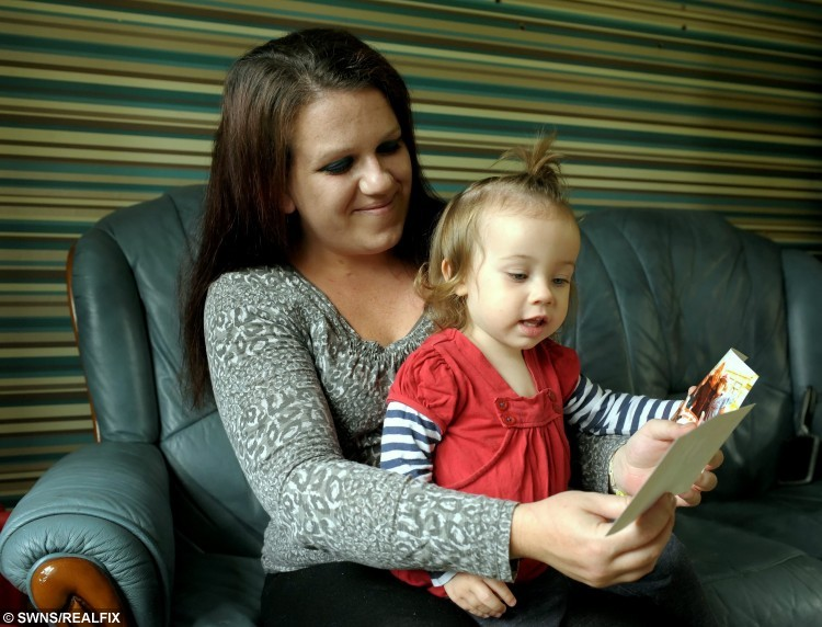 Kate Jarrett with her daughter Sophie looking at photos of Kate's newly found birth mum and sister. See Masons story MNVOICE. A woman who was adopted at birth hired a private investigator and tracked down her birth mum with the help of a tape of her mum's VOICE.Kate Jarrett, 27, was handed the heartwrenching tape on her 16th birthday which contained her mum's voice telling the story of why she was given up. Her birth mother, Karen Irons,  gave the tape to Kate's adoptive parents after she was  adopted at five years old, on the instruction it would be played on when she turned 16. The emotional narrative made her desperate to find her real mum - and Kate spent months trawling through social media and websites to get to her. She turned to private detectives - and handed them the tape in the hope her voice would help them trace her. A  private investigator found her grandparents in Aberdeenshire - but they denied any knowledge of her and Kate gave up. Years later with the help of the internet she has now  been reunited with her mum Karen and sister Suzie who live in Middlesborough.