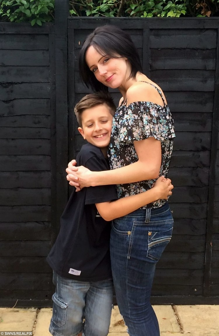 Rahim Woods with mum Natalie.  A school boy has cut his hair for the first time in his life to raise money for charity and make wigs for cancer victims.  See MASONS story MNHAIR.  Rahim Woods has raised more than Ã1,500 after deciding to shed his 3ft head of hair which reached his knees.  As he is starting secondary school in September he and his family decided it was time for a change - but they knew they would have to do something special.  After discussing what to do with his parents and siblings Rahim decided he would lop off his locks to raise money for the The Thomas Ball ChildrenÃs Cancer Fund.  The initial target was set at Ã500 on his Just Giving page but within three days donations had come pouring in and he has now raised Ã1565.   Friends and family attended the event at The Eden Centre shopping centre in High Wycombe where Rahim took to the chair to face the scissors.