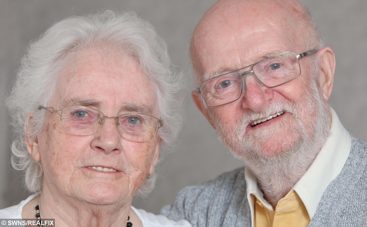 David and Muriel Emery from Stourbridge, West Midlands.  A devoted couple have defied the odds to reach their 60th wedding anniversary after beating cancer four times and surviving 19 HEART ATTACKS.  See NTI story NTICOUPLE.  David Emery, 81, and wife Muriel, 86,  tied the knot on May 14, 1955 but have seen more health scares than most during their marriage.  Muriel has beaten breast cancer twice while her husband has fought off bowel cancer and  Hodgkin's lymphoma – as well as a staggering 19 heart attacks.   The brave couple have put their determination to overcome the deadly conditions over the years down to simply wanting to be there for one another.
