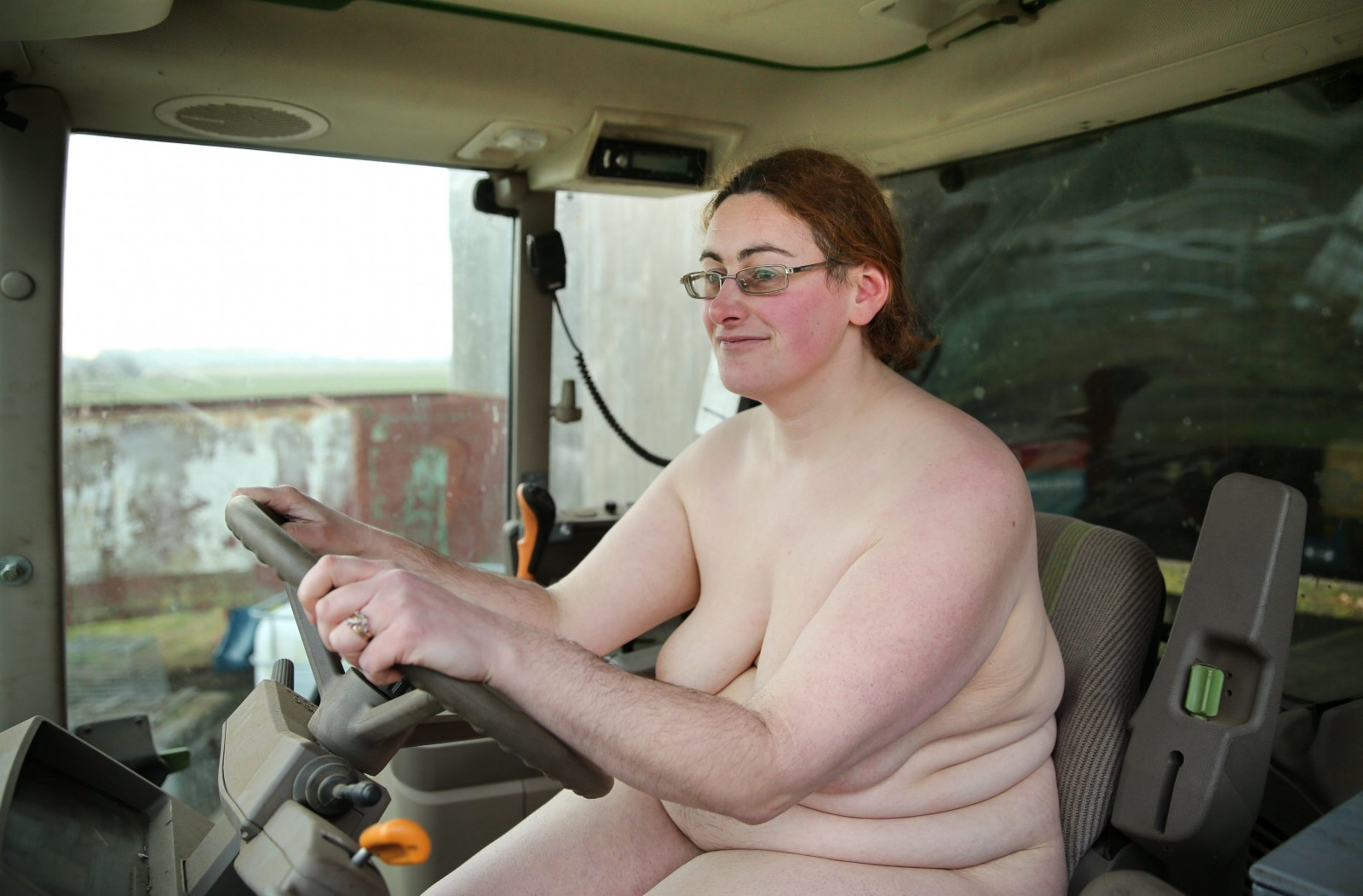 Naked warning! Farmer's daughter exposes the cheeky goings-on in her family's fields