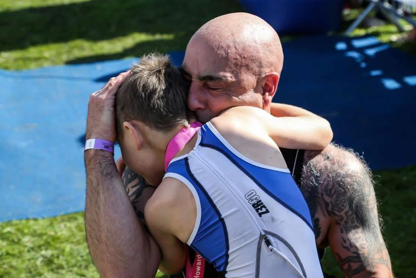 See the emotional moment one very special boy AMAZES spectators at triathlon