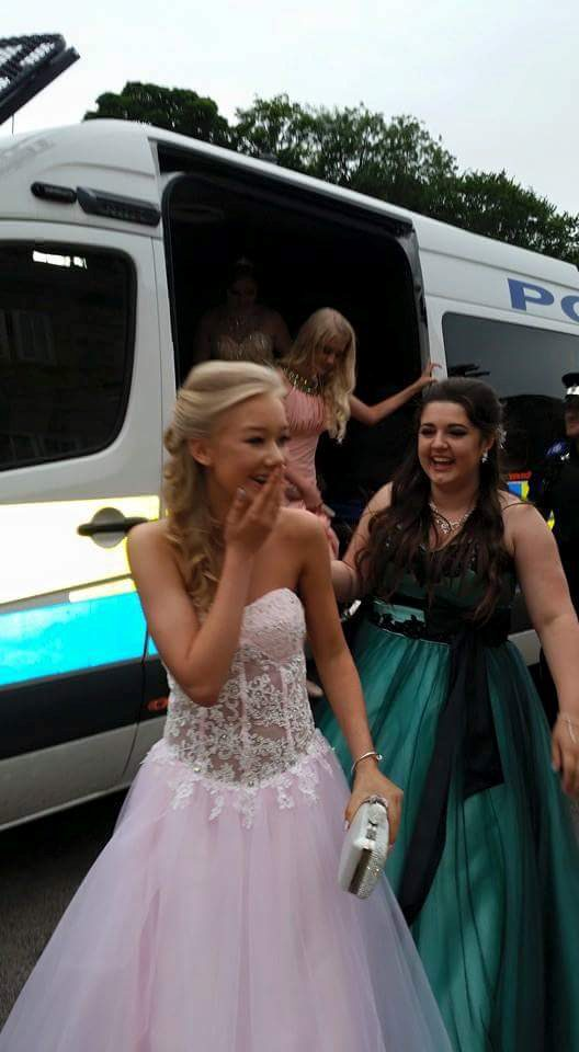 That's how to make an entrance! What happened when the limo broke down on prom night