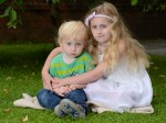 Little Sophie saved her three-year-old brother's life when a 40ft TREE fell on them