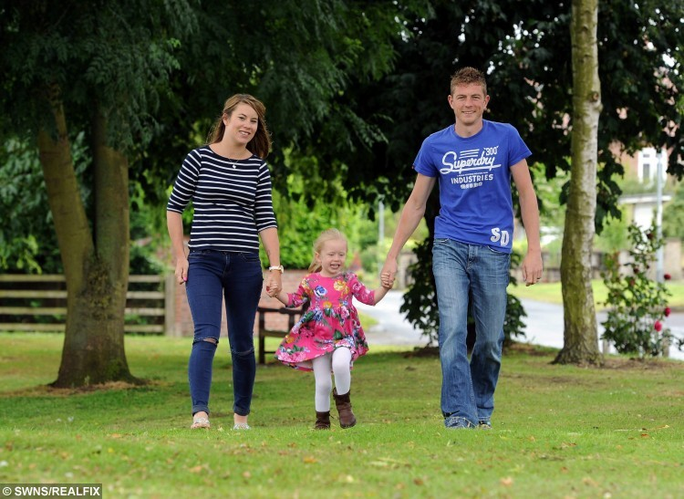 Pictured - Liam, 26, Ami, 28, and Lilly Duggleby, from Yorkshire. See Ross Parry copy RPYTRANSPLANT. Thier second child Minnie, who passed away only 23 days was a Neonatal Ogan Donor.
