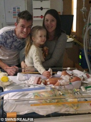 Pictured - Liam, 26, Ami, 28, and Minnie, who passed away only 23 days old. Duggleby, from Yorkshire. See Ross Parry copy RPYTRANSPLANT. Thier second child Minnie, who passed away only 23 days was a Neonatal Ogan Donor.