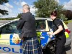 Bride finds herself in the back of a police car on her wedding day!