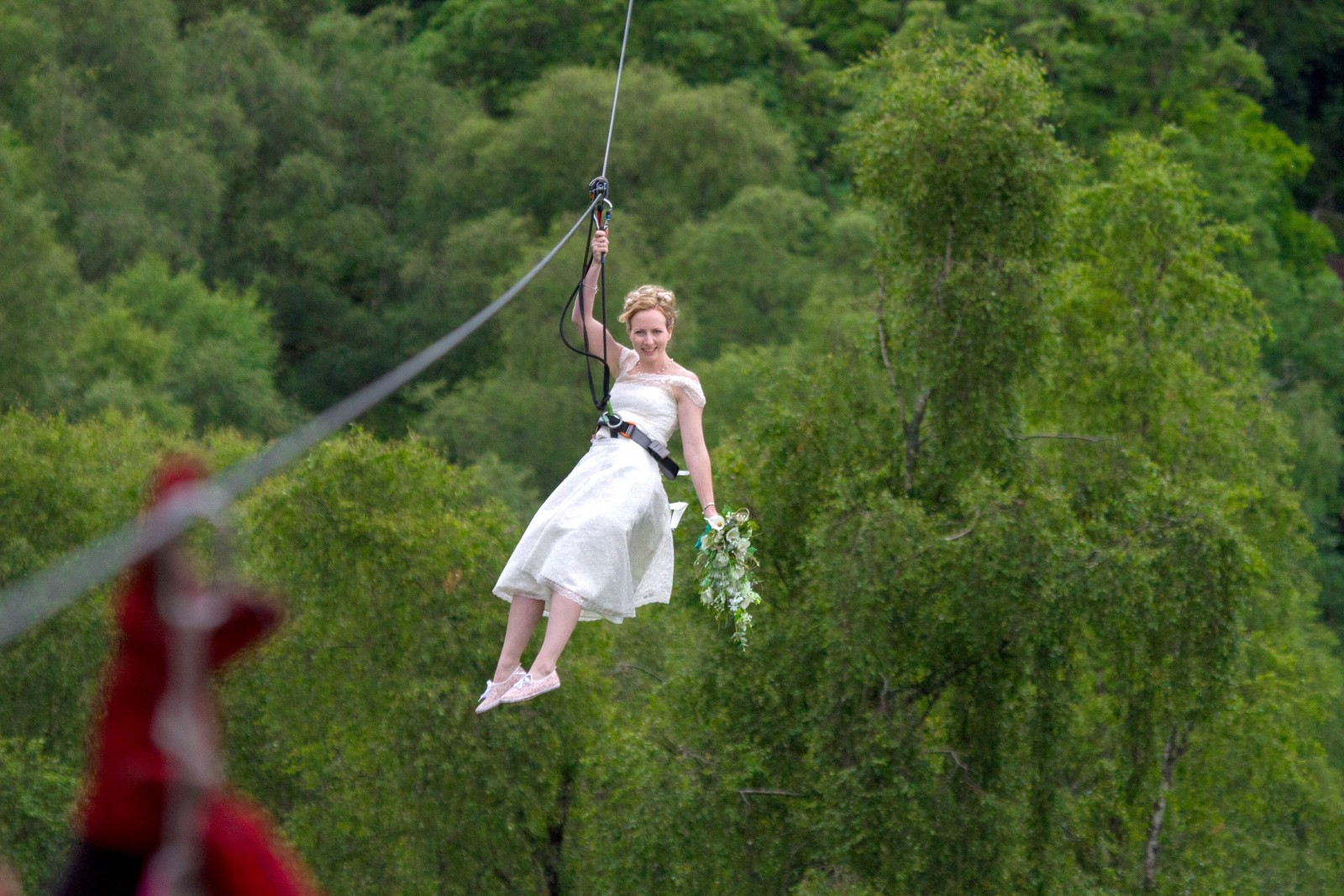 Here comes the bride! Is this the most daring wedding EVER?