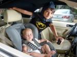 Mini hero! Boy dressed as Batman saves tot trapped in car