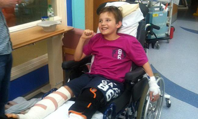 Schoolboy was told he'd never walk unaided again let alone do this..
