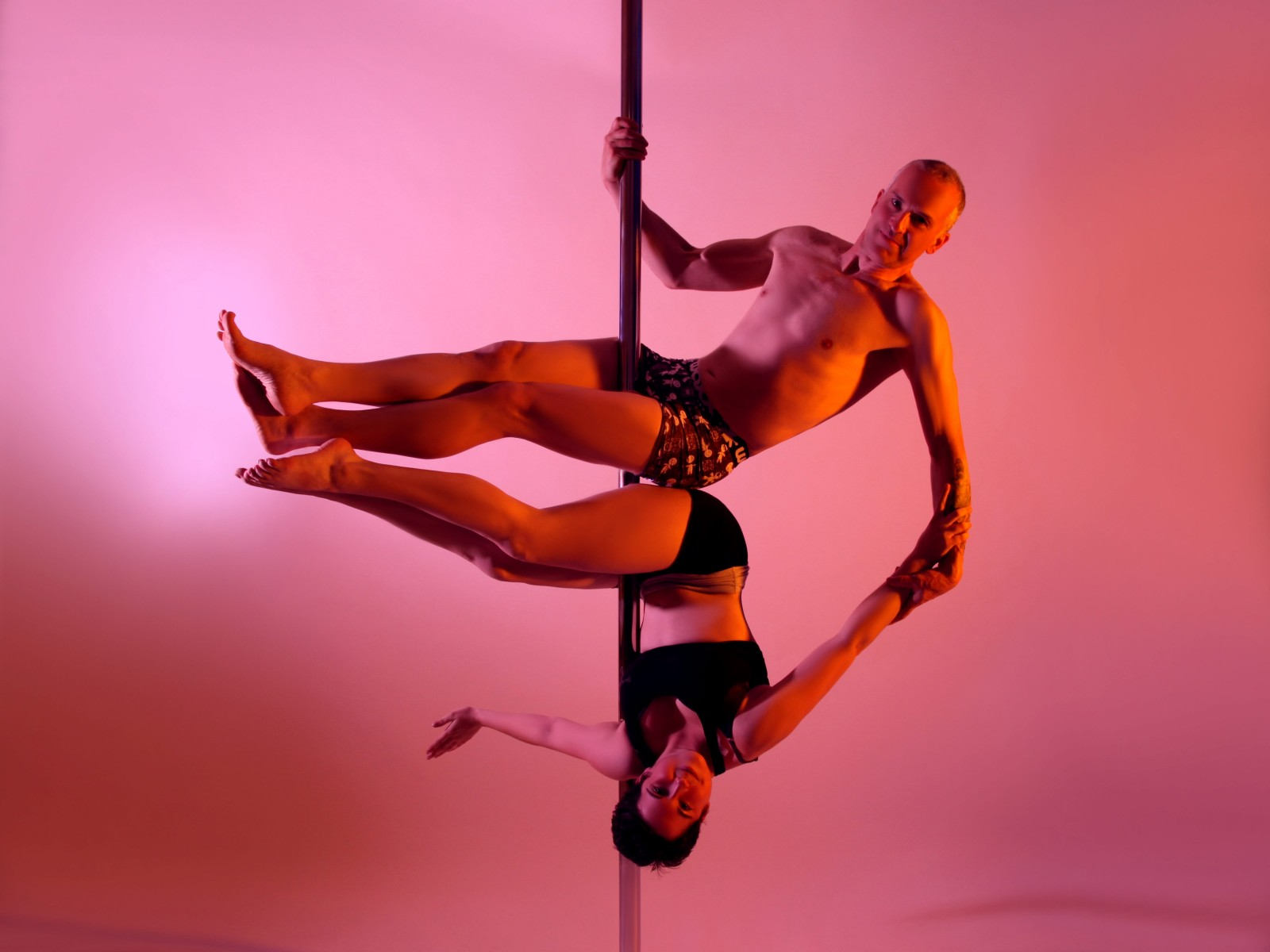 Weird or wonderful? The world's first father and daughter pole dancing duo!