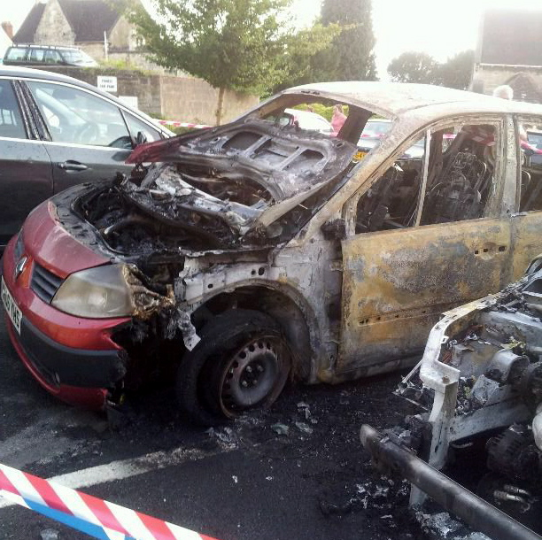 Ever ignored a warning light in your car? Couple narrowly escape fireball