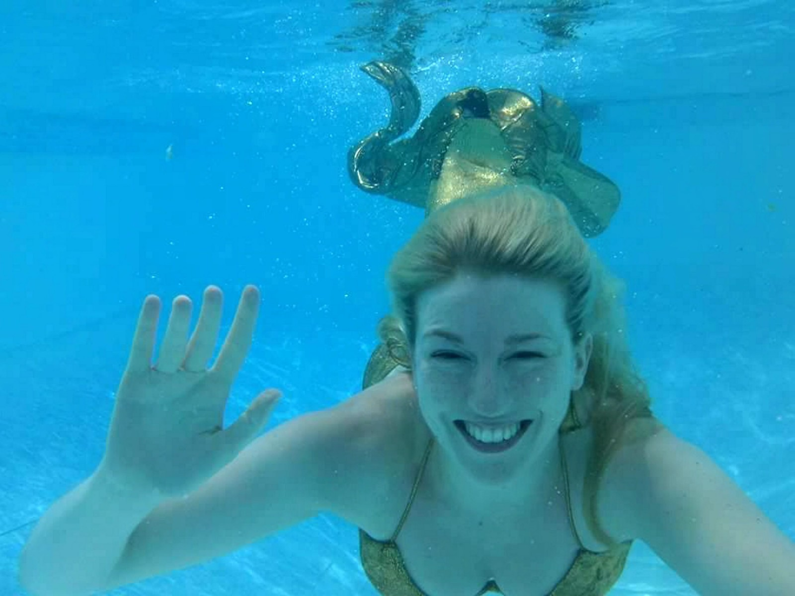 Underwater Wonder! Can you guess which classic film inspired this real life mermaid?