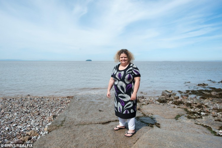 Marie Lord who 'sleep-walked' half a mile and ended up walking out to sea. See SWNS story SWWALK: A woman has praised a quick-thinking hotel porter who saved her life after she sleep-walked more than half a mile from her home - into the SEA. Marie Lord, 39, got out of her bed at 1.30am, let herself out of the house and walked through the streets onto the beach at the seaside town where she lives.  She scaled a number of steep concrete steps, which she is normally unable to walk down without the aid of her husband, before walking into the sea. Marie suddenly awoke with the taste of sea salt and grit in her mouth as waves crashed around her on the shoreline.