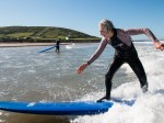 This 75-year-old Grandmother is a natural on a SURF BOARD