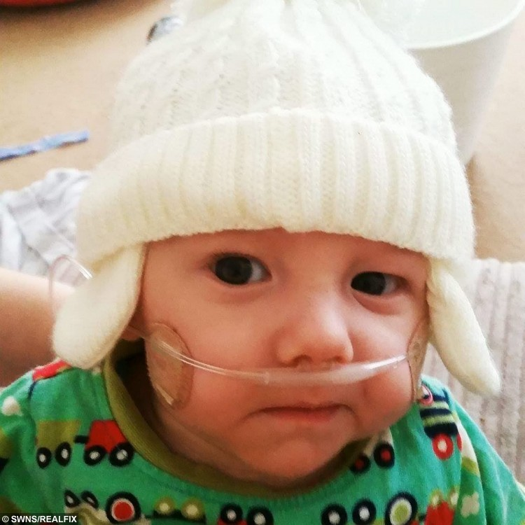 Collect of surviving twin Harrison. See SWNS story SWTWINS; A mum of twins has spoken of her heartbreak after she took the agonising decision to turn off one son's life support machine - on the same day she took his brother home. Demi May, 21, was forced to make the decision more than 100 days after giving birth to twins by emergency Caesarean, after medics told her little Harley had no chance at life. Sadly, the twins suffered from selective intrauterine growth restriction, meaning weaker twin Harley was only kept alive in the womb by bigger brother Harrison. After months of intensive care treatment, the Demi and husband Steven took the agonising decision to turn off his life support.