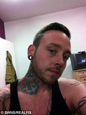 Facebook pic of Gavin Golighty, 29, who pleaded guilty to assault causing actual bodily harm at Peterlee Magistrates' Court after he subjected his wife Amy Dawson, 22, to a terrifying attack on their wedding night. See SWNS story SWBRIDE: A bride was beaten by her new husband on their wedding night - because he couldn't take her dress off, a court heard. Amy Dawson married her long term partner, Gavin Golightly, in a fairytale church service in August last year. The newlyweds, who have a child together, then enjoyed a reception at a country hotel where they were due to stay the night. As they returned to their room, Amy, 22, asked the groom to help her take off her dress but Golightly, 29, refused.
