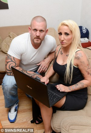 Neil and Katie Ivall who have turned into paedophile hunters after their own daughter became a target online