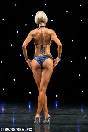 "Bodybuilding champion Sarah Oldham (32) from Northampton.  A woman who was left mortified after seeing a photo of herself as a buxom bridesmaid has turned her life around by losing six stone and becoming a bodybuilding champion.  See NTI story NTIBODY.  Sarah Oldham, who tipped the scales at 16st at her largest, got a wake up call after squeezing into a curvaceous size 22 bridesmaid's dress for her sister's wedding.  11 years later, after numerous diets and gruelling exercise regimes failed to give the results she needed, the 32-year-old, from Duston, Northants., decided enough was enough.  Ms Oldham, an insurance claims team leader, took up bodybuilding 18 months ago and now weighs a toned eight-and-a-half stone, after following a strict diet of chicken, broccoli and rice.  On weekends, her personal trainer allows her to branch out and eat salmon, sweet potato and a small amount of carbohydrates.  Speaking of the moment she realised she needed to change her eating habits, Sarah said: ""I was a bridesmaid for my sister's wedding a few years ago and was mortified when I had to wear a size 22 dress.Ã"