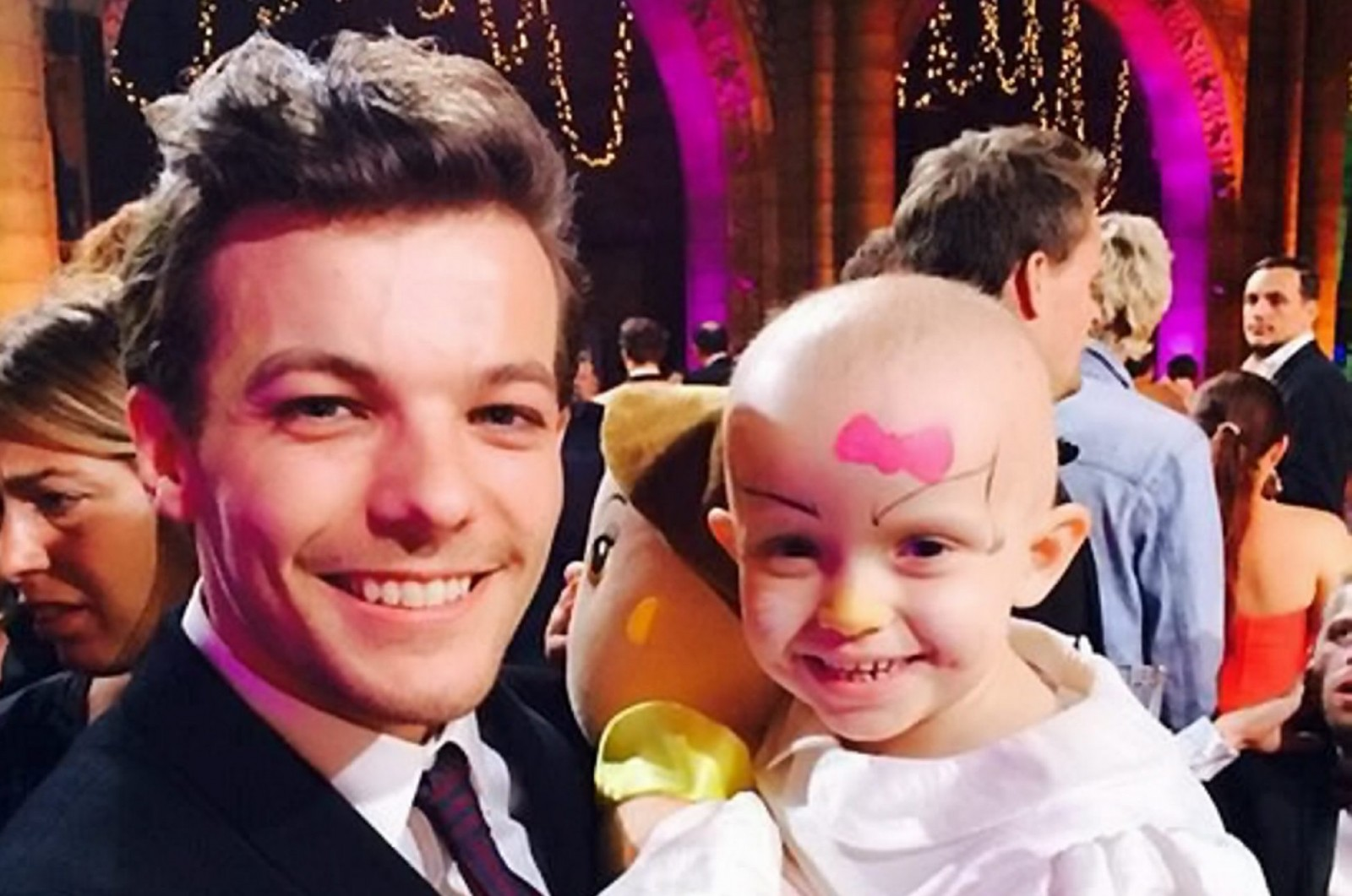 The four year old battling cancer for the second time gets a boost from her idol