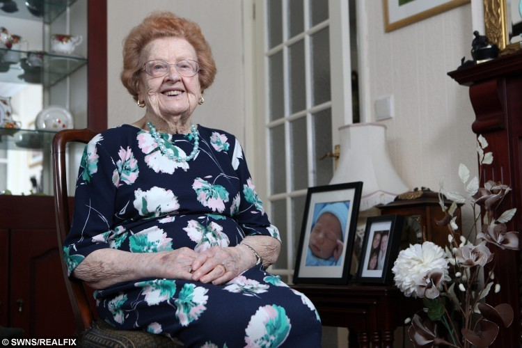 Betty Jones, 92, pictured outside her home in Carlton, South Yorkshire, on 28 August 2015.  See Ross Parry copy RPYSLIM. A great-grandma is inspiring dieters everywhere after being crowned one of Britain's oldest slimmers - shedding seven stone at the age of 92. Betty Jones weighed an unhealthy 17 stone before she was told she needed open-heart surgery in her 80s and she would need to lose weight to prepare for it. As well as counting the calories she put in the hours at the gym, regularly pedalling an exercise bike and having swimming lessons. She now weighs a slender 10 stone 3lb and feels much better for it.