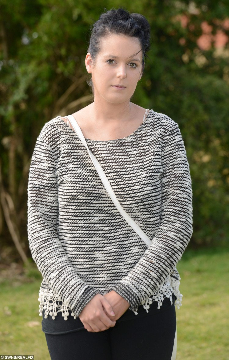 "Louise Grimshaw from Leigh, Lancs., 27 August 2015. Louise was told she had anxiety when in fact it was a rare heart condition. See Ross Parry Copy RPYHEART : A young mum turned BLACK after her GP failed to spot a life-threatening illness which could kill her by the age of 30. The family of Louise Grimshaw, 20, say a doctor failed to spot signs of the rare Addison's Disease, despite her father having to carry her into the surgery as she couldn't walk. Her family was told to ""take her home and feed her up"" but now say she has as little as nine years left to live and an urgent heart transplant is her only chance of survival. The GP has been rapped by the General Medical Council who said he failed to carry out an adequate examination."