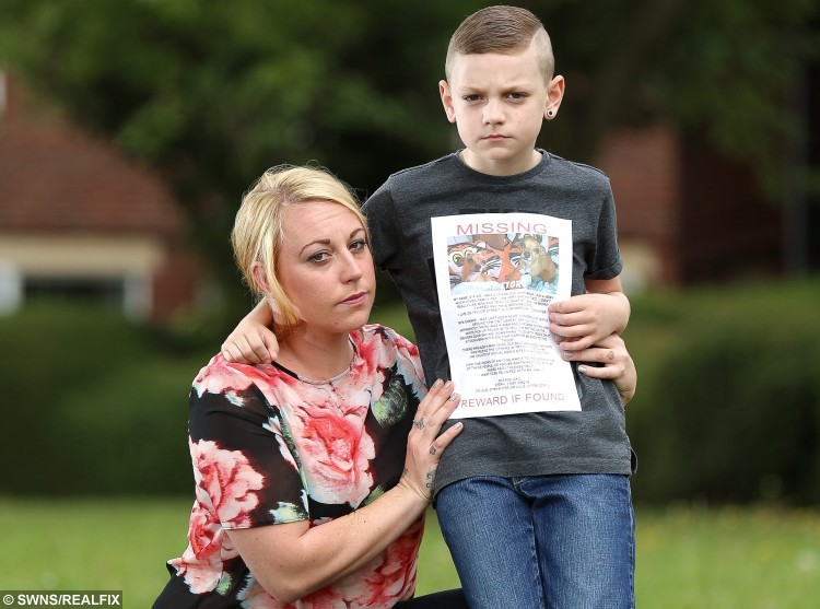 Stephanie Moat 27 and son Kairan Moat 9 of Conisbrough who's dog Pixie was stolen and has been held for ransom. A gang of 'dognappers' who stole a family pet told the terrified owner they would throw her dog off a bridge unless she pays a Ã400 ransom. Stephanie Moat said a gang of three men scooped up two-year-old Pixie and drove off in a pick-up truck after the dog wandered away from her home in Conisbrough. Two days later, the mum-of-one received a chilling phone call from the alleged dognapper who threatened to kill the Jack Russell-Chihuahua cross-breed unless she paid up hundreds of pounds and removed an online appeal for information. Tom Maddick / Rossparry.co.uk Stephanie Moat 27 and son Kairan Moat 9 of Conisbrough who's dog Pixie was stolen and has been held for ransom. A gang of 'dognappers' who stole a family pet told the terrified owner they would throw her dog off a bridge unless she pays a ÃÃ400 ransom. Stephanie Moat said a gang of three men scooped up two-year-old Pixie and drove off in a pick-up truck after the dog wandered away from her home in Conisbrough. Two days later, the mum-of-one received a chilling phone call from the alleged dognapper who threatened to kill the Jack Russell-Chihuahua cross-breed unless she paid up hundreds of pounds and removed an online appeal for information. Tom Maddick / Rossparry.co.uk