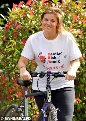 "Kaylee Crank is raising awareness for the charity Cardiac Risk in Children. See Ross Parry copy RPYRARE :  A woman is forced to live each day as if it's her last due to a rare condition that means she's constantly at risk of sudden death.  Kaylee Crank, 25, suffers from Long QT syndrome which has no symptoms, but means her heart could stop at any time.  Every day is dangerous for the young woman, who is otherwise perfectly fit and healthy.  Kaylee said: ""I have occasional palpitations, which can be scary but I have learnt to deal with them.  ""Sometimes I feel it works in my favour because I live everyday as if it could be my last. ""This is mainly the reason I would like to raise awareness."""