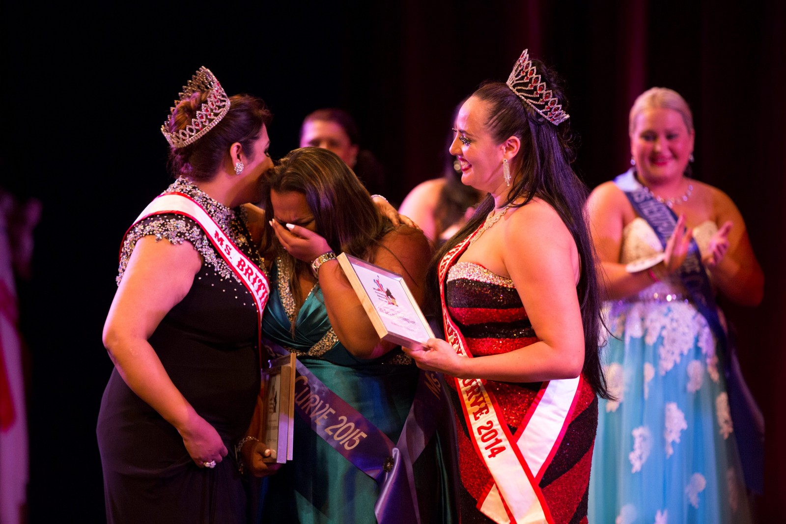 Plus-sized beauties battle it out in pageant