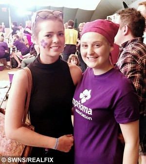 Best friends Catherine Boughton (left) and Samantha Tozer who are both suffering from the same rare cancer. See SWNS story SWCANCER: Two 21-year-old women have become best friends after realising they were suffering from the same rare cancer, at the same age, at the same time. When Catherine Boughton was diagnosed with Hodgkin lymphoma the day before her 21st birthday, she thought nobody would ever understand what she was going through. But that was before she met Samantha Tozer, 21, who was also suffering from the rare cancer, which only 300 young people are diagnosed with each year.  Amazingly, the girls happened to live just 15 MILES apart - and have now become best friends.