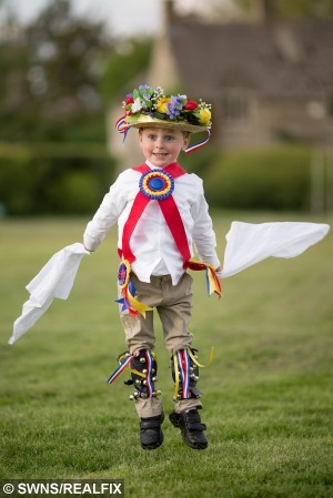 Harrison is one of the youngest morris dancers in the country