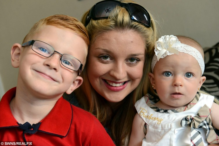 "Little Kaiden Moss (left) with his mum Samantha and baby sister 9 month old Harper. Kaiden Moss holding the phone.ailed a hero after he saved his mother after she collapsed at home. See swns story SWSAVE. Brave Kaiden Moss kept a cool head when mum Samantha collapsed, hit her head and was knocked unconscious at their home.The brave youngster immediately called Samantha's friend Karen Cross, who lives nearby, for help.  But when he received no answer he left two voicemails while he also placed a blanket over his mum to keep her warm and looked after sister Harper, aged nine months.  Samantha's collapse was caused by a migraine, and she was brought back to consciousness when Kaiden was eventually able to speak to Miss Cross.Samantha, 24, a full-time mum, of Jarrow in the north east, said: ""I got up to shut the curtains, and all I remember is turning around.  I must have blacked out, fallen and whacked my head. ""Kaiden left my friend two voicemails while he was trying to bring me round, covered me with a blanket to keep me warm, tried to put a pillow under my head and also kept my daughter calm."